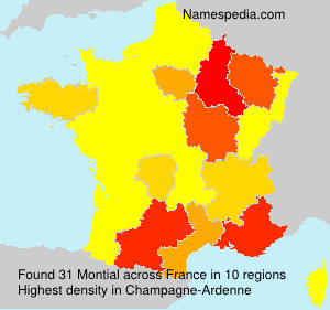 Surname Montial in France