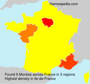 Surname Montias in France