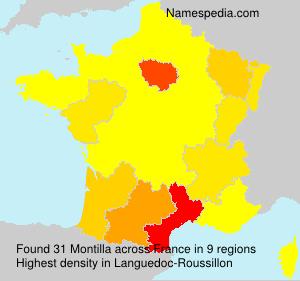 Familiennamen Montilla - France