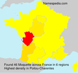 Surname Moquette in France