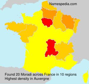 Surname Moradi in France