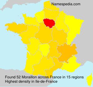 Surname Moraillon in France