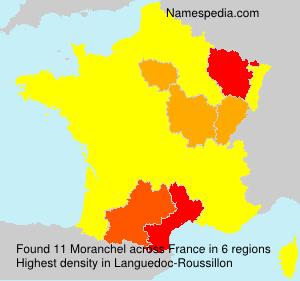 Familiennamen Moranchel - France