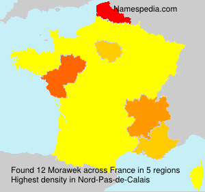 Surname Morawek in France