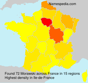 Surname Morawski in France