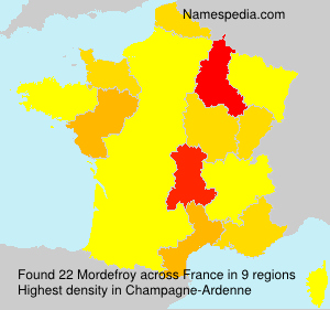 Surname Mordefroy in France