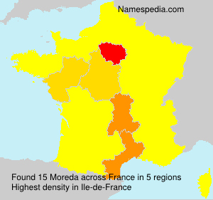 Surname Moreda in France