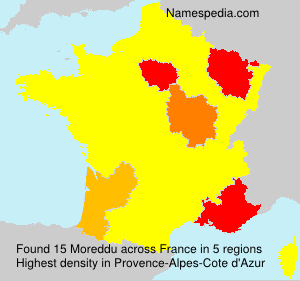 Surname Moreddu in France