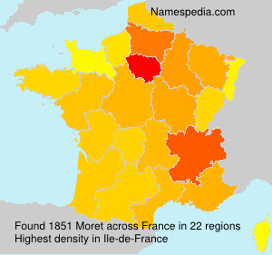 Surname Moret in France