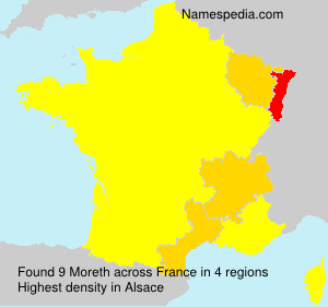 Familiennamen Moreth - France