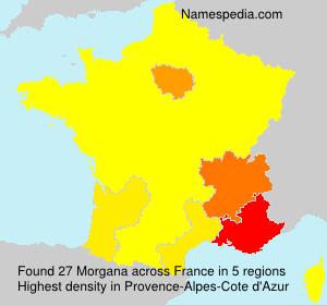 Familiennamen Morgana - France
