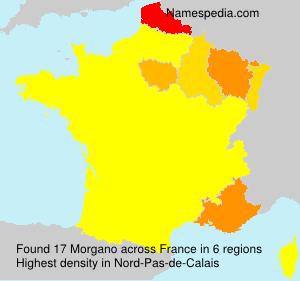 Surname Morgano in France