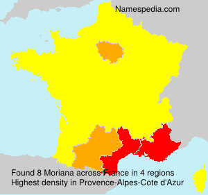 Surname Moriana in France