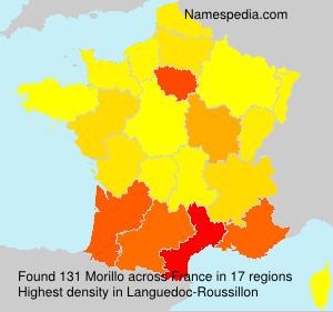 Surname Morillo in France