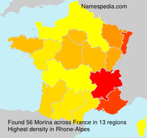Surname Morina in France