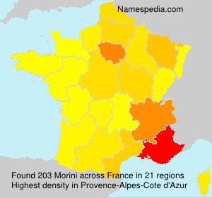 Familiennamen Morini - France