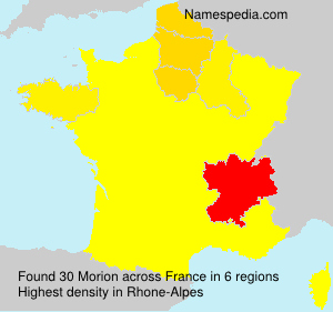 Surname Morion in France