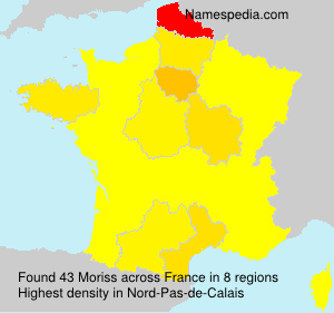 Surname Moriss in France