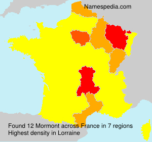 Surname Mormont in France