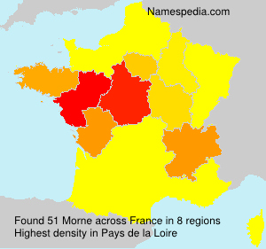 Surname Morne in France