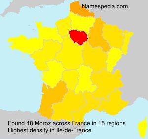 Surname Moroz in France