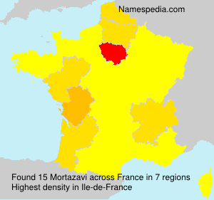 Surname Mortazavi in France