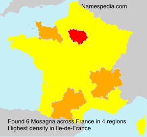 Surname Mosagna in France