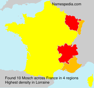 Surname Mosch in France