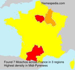 Surname Moschos in France