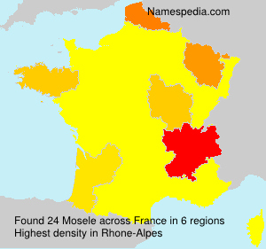 Surname Mosele in France
