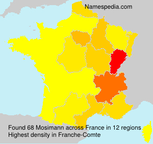 Surname Mosimann in France