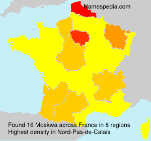 Surname Moskwa in France