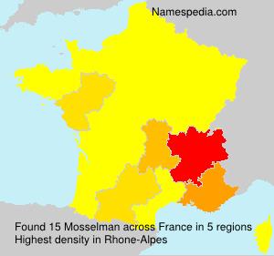Familiennamen Mosselman - France