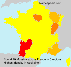 Surname Mossina in France