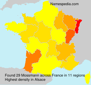 Surname Mossmann in France