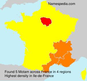 Surname Motam in France