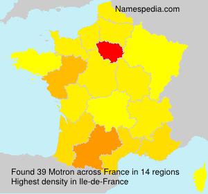 Surname Motron in France