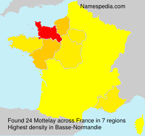 Surname Mottelay in France