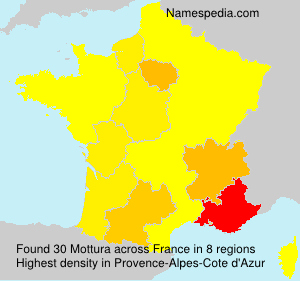 Surname Mottura in France
