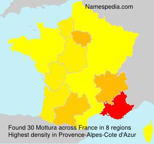 Surname Mottura in France