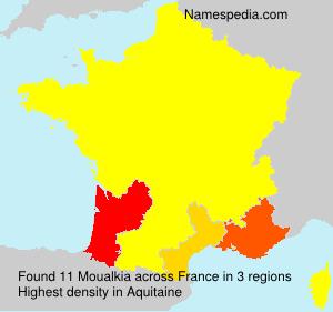 Surname Moualkia in France
