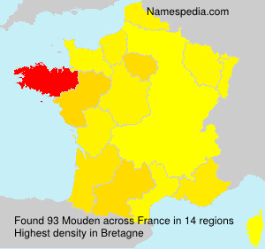 Surname Mouden in France