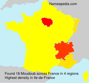 Surname Moudoub in France
