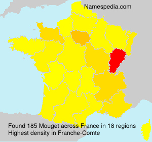 Surname Mouget in France