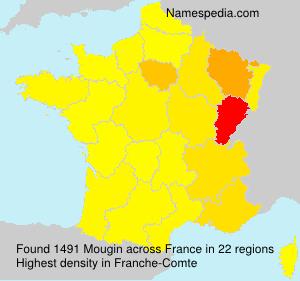 Surname Mougin in France