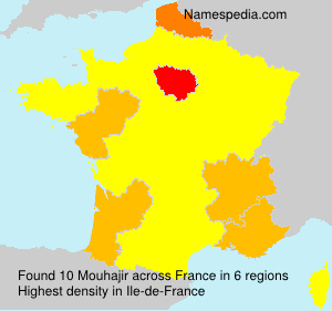 Surname Mouhajir in France