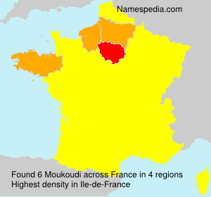 Surname Moukoudi in France
