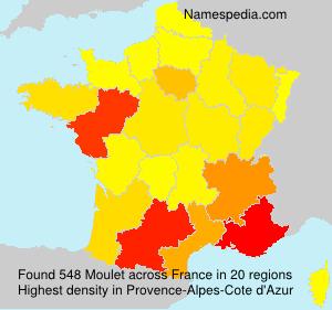 Surname Moulet in France