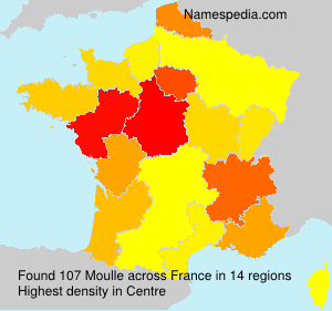 Surname Moulle in France