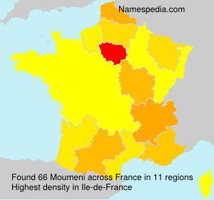 Familiennamen Moumeni - France